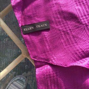 Purple 100% silk scarf Ellen Tracy